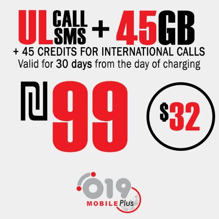 019 Mobile Unlimited calls and SMS + 45GB + 45 for 30 Days