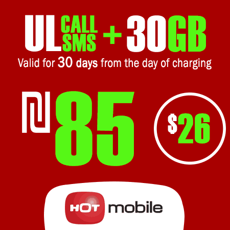 Hot Mobile Unlimited Calls and SMS + 30GB Data for 30 Days