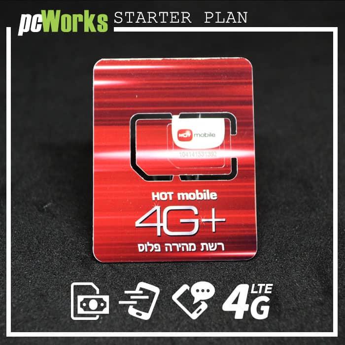 Israeli Prepaid SIM Card Hot Mobile