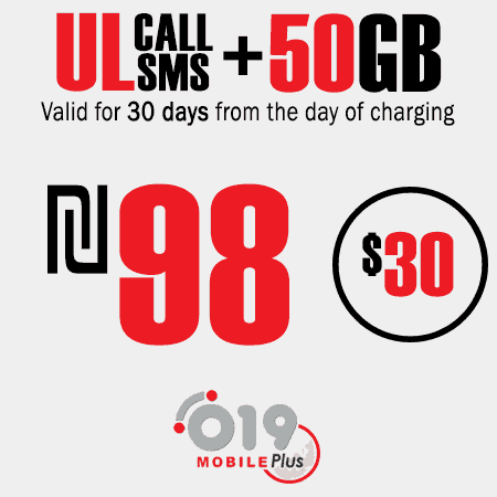 019 Mobile Unlimited calls and SMS + 50GB for 30 Days
