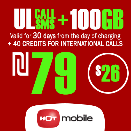 Hot Mobile Unlimited Calls and SMS + 100GB + 40 Credits for International Calls Data for 30 Days