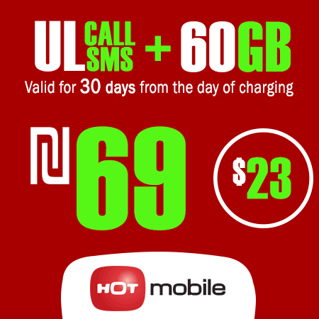 Hot Mobile Unlimited Calls and SMS + 60GB Data for 30 Days